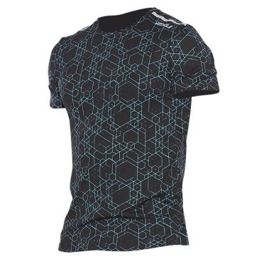 2XU GHST runningshirt short sleeve black/blue men