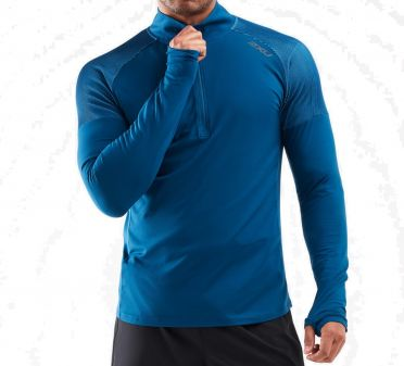 2XU GHST 1/2 Zip runningshirt long sleeve Blue men