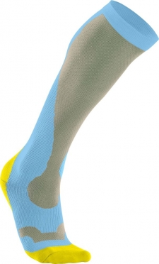 2XU Performance compression socks blue/yellow
