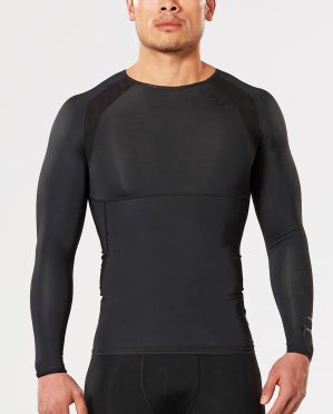 2XU Refresh Recovery compressionshirt long sleeve black men