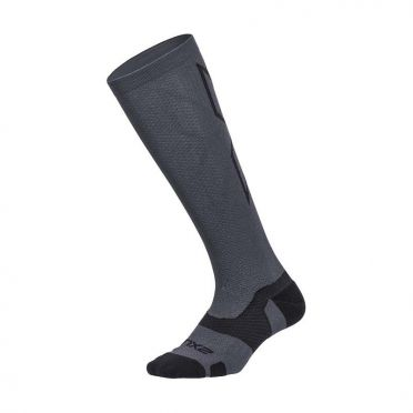 2XU Vectr merino LC Full Lenght compression high socks grey