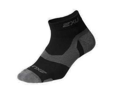 2XU Vectr merino LC 1/4 crew compression socks black