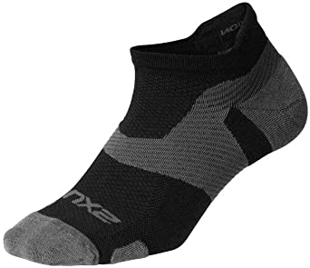 2XU Vectr merino light Noshow compression socks black