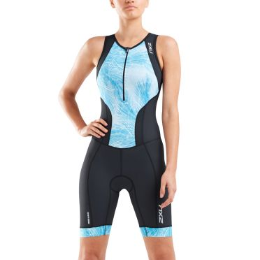 2XU Perform sleeveless trisuit black/blue women