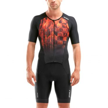 2XU Perform short sleeve trisuit black/red men