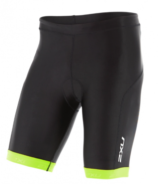"2XU X-vent 9"" Tri short black/yellow men"