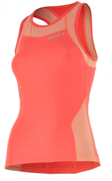 2XU X-vent Tri Singlet orange women