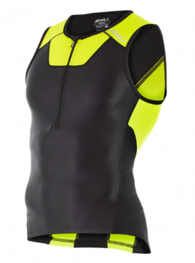 2XU X-vent Tri Singlet black/yellow men