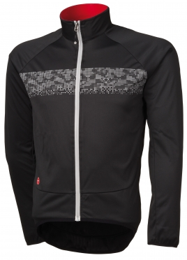 Agu Nova hivis cycling jacket black/reflection men