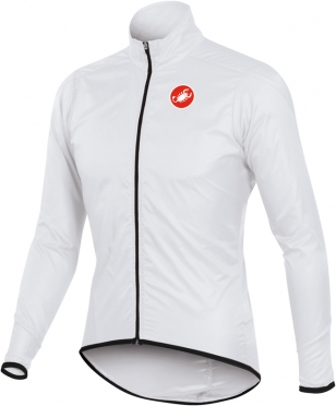Castelli squadra long jacket white mens 10504-001