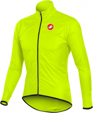 Castelli squadra long jacket yellow-fluo mens 10504-032