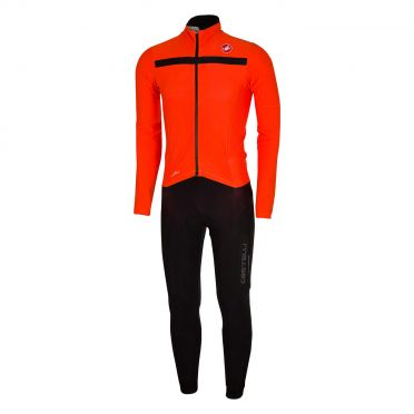 Castelli Sanremo 2 thermosuit orange/black men