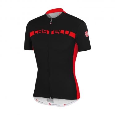 Castelli Prologo 4 jersey black/red men 15017-231