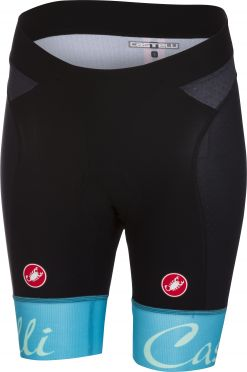 Castelli Free aero W short black/sky blue women