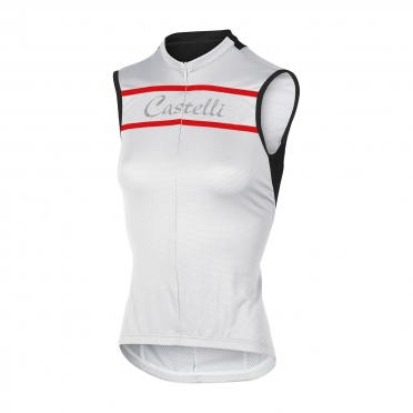Castelli Promessa sleeveless jersey white women 15053-001