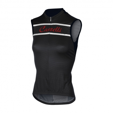 Castelli Promessa sleeveless jersey black women 15053-010