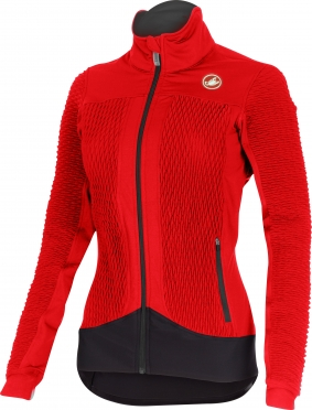 Castelli Elemento 2 7x(Air) W cycling jacket red women 15557-023