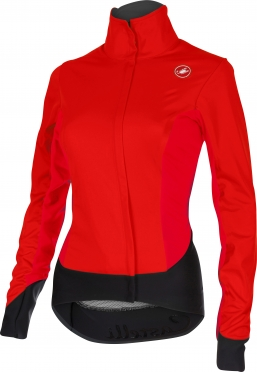 Castelli Alpha W cycling jacket red/black women 15558-023
