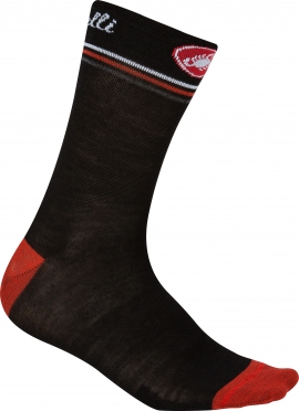 Castelli Atelier 13 cycling sock black/red women 15569-231