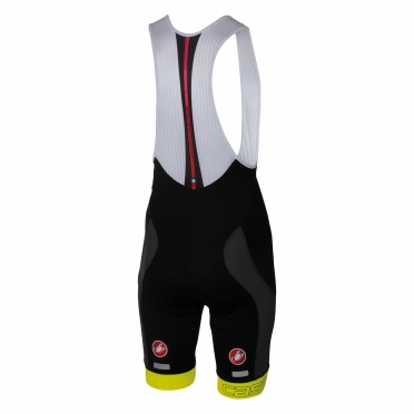 Castelli Velocissimo bibshort black/yellow men 16003-032