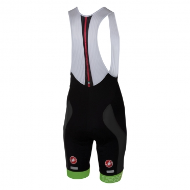 Castelli Velocissimo bibshort black/green men 16003-038