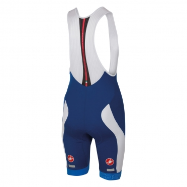 Castelli Velocissimo bibshort blue/white men 16003-057