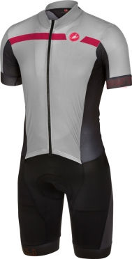 Castelli Velocissimo sanremo speedsuit grey/black/red men