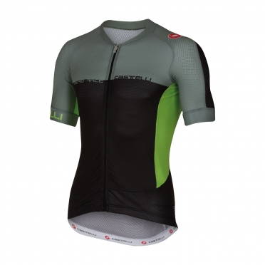 Castelli Aero race 5.1 jersey black/green men 16007-010