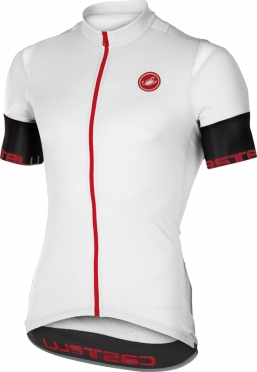 Castelli Entrata 2 jersey short sleeve white/black men