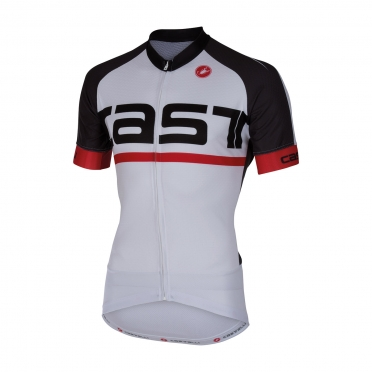 Castelli Meta jersey white/anthracite men 16016-109