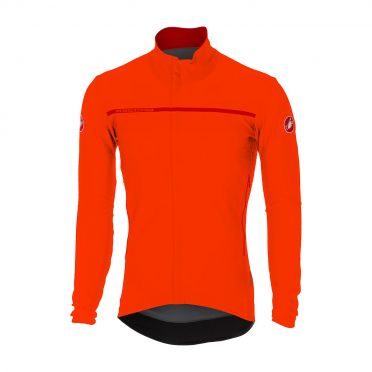 Castelli Perfetto long sleeve jacket orange men