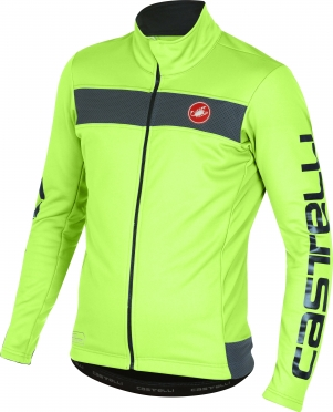 Castelli Raddoppia jacket yellow fluo/reflex men 16514-032