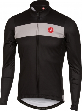 Castelli Raddoppia jersey FZ black/grey men 16518-010