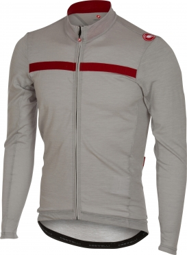 Castelli Constante jersey FZ grey/red men 16519-080