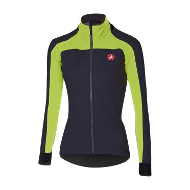 Castelli Mortirolo 2 W long sleeve jacket anthracite/lime women