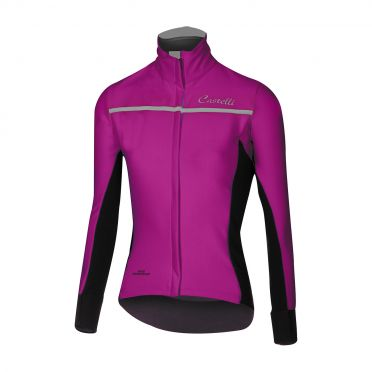 Castelli Trasparente 3 W long sleeve jersey purple women