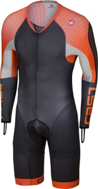 Castelli Body paint 3.3 speedsuit long sleeve black/orange men