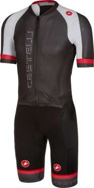 Castelli Sanremo 3.2 speedsuit short sleeve black/white men