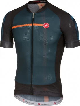 Castelli Aero race 5.1 jersey black/orange men