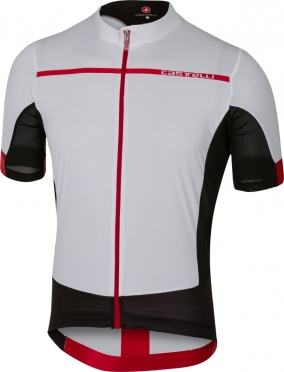 Castelli Forza pro jersey white/red men