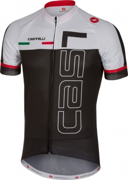 Castelli Spunto jersey short sleeve black/white men