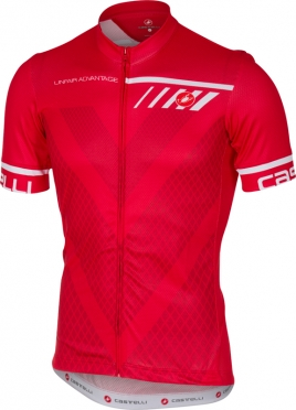 Castelli Velocissimo jersey short sleeve red men