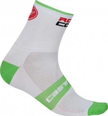 Castelli Rosso corsa 6 cycling sock white/green men