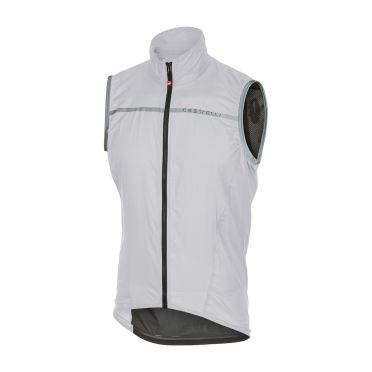 Castelli Superleggera vest rainjacket white men