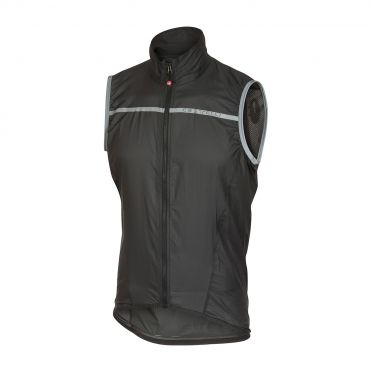 Castelli Superleggera vest rainjacket anthracite men
