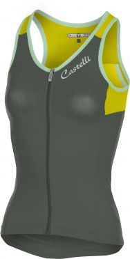 Castelli Solare top sleeveless gray/yellow fluo women