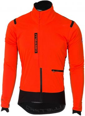 Castelli Alpha RoS jacket orange/black men