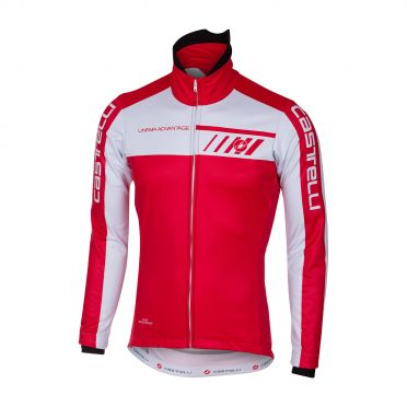Castelli Velocissimo 2 jacket red/white men