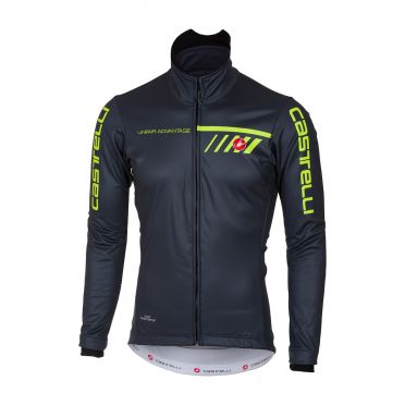 Castelli Velocissimo 2 jacket black/yellow-fluo men