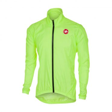 Castelli Squadra jacket rainjacket yellow fluo men